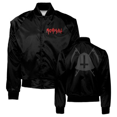 midnight - Bell Satin Jacket (Black)