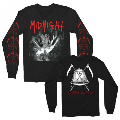 midnight - Rebirth By Blasphemy Album Long Sleeve (Black)
