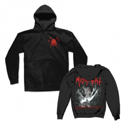 midnight - Rebirth By Blasphemy Pullover Hoodie (Black)