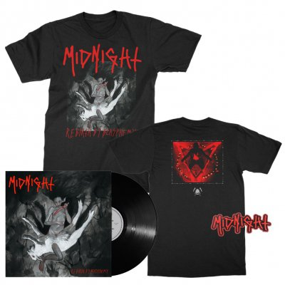 midnight - Rebirth By Blasphemy LP (Black) + Album T-Shirt (Black) + Patch Bundle