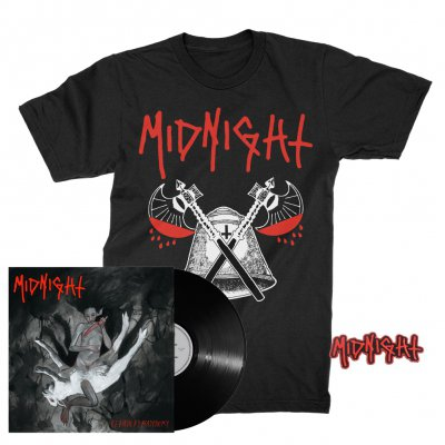 midnight - Rebirth By Blasphemy LP (Black) + Blood Axe T-Shirt (Black) + Patch Bundle