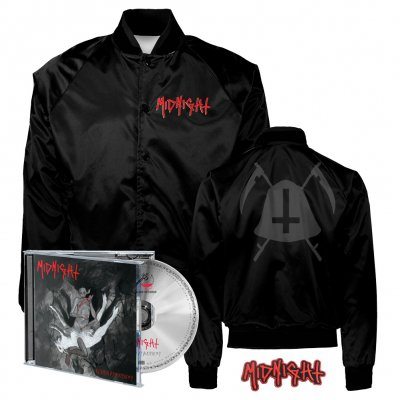 midnight - Rebirth By Blasphemy CD + Bell Satin Jacket (Black) + Patch Bundle