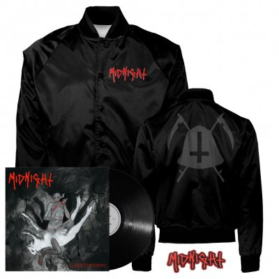 midnight - Rebirth By Blasphemy LP (Black) + Bell Satin Jacket (Black) + Patch Bundle