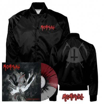 midnight - Rebirth By Blasphemy LP (Grey/Oxblood/Black) + Bell Satin Jacket (Black) + Patch Bundle
