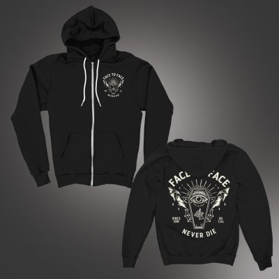 face-to-face - Bat Coffin Hoodie (Black)