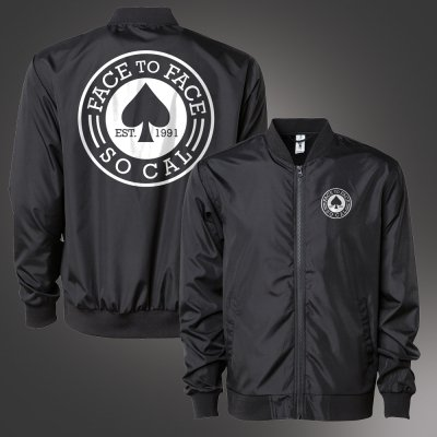 face-to-face - Spade Bomber Jacket (Black)