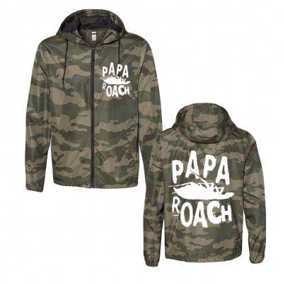 papa-roach - Classic Logo Windbreaker (Camo)