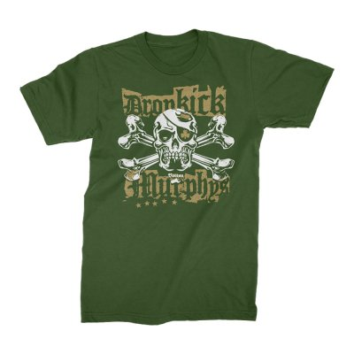 dropkick-murphys - Punk Jolly Roger T-Shirt (Green)