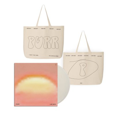 Purr - Like New LP (Clear) + Tote Bag (Natural) Bundle