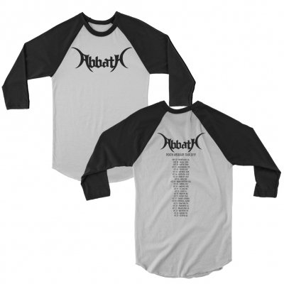 abbath - Logo Raglan Dateback (Black/White)