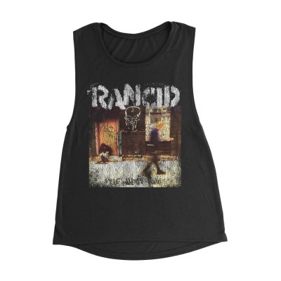 rancid - Life Won't Wait Women's Vintage Muscle Tank (Black