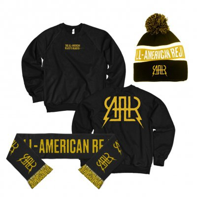 the-all-american-rejects - AAR Logo Sweatshirt (Black) + Beanie + Scarf Bundle