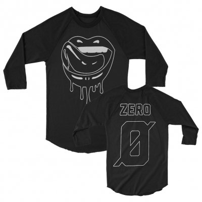 falling-in-reverse - Zero Lips Long Sleeve Raglan (Black)