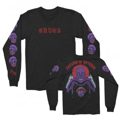 falling-in-reverse - Drugs Skull Long Sleeve (Black)