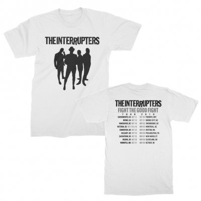 the-interrupters - Silhouette Fall 2019 Tour T-Shirt (White)