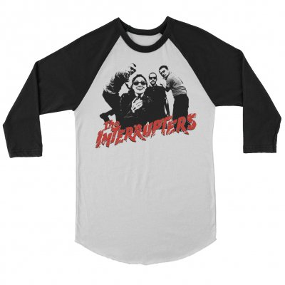 the-interrupters - Clash Raglan (White/Black)