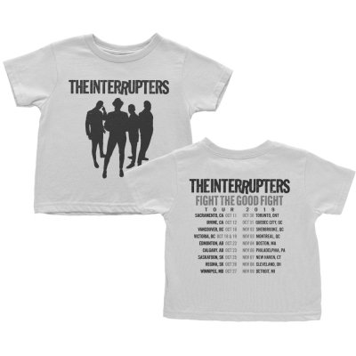 the-interrupters - Silhouette Fall 2019 Tour Youth T-Shirt (White)