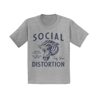 social-distortion - Tiger Toddler T-Shirt (Heather Grey)