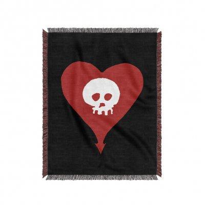 alkaline-trio - Heart Skull Woven Blanket (Black)