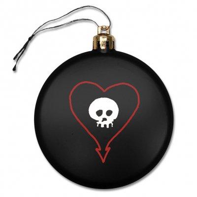 Heartskull Ornament (Black)