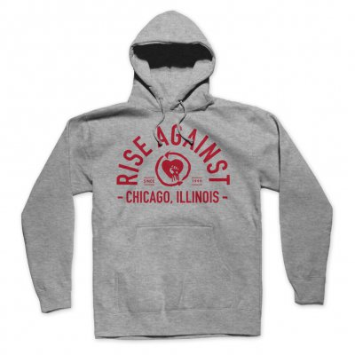 rise-against - Classic Arch Hoodie (Gray)