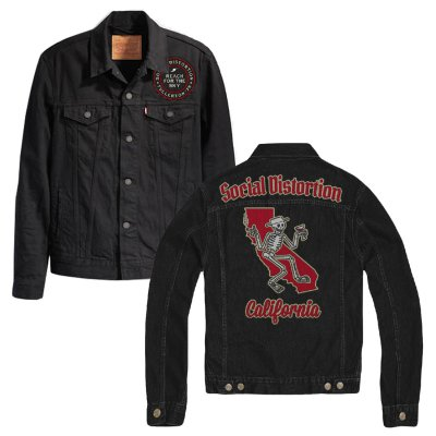 Felt Applique Patch Jacket (Black)
