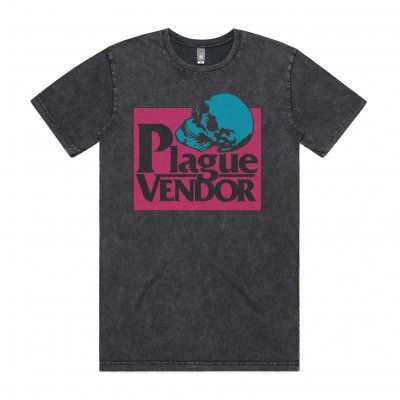 Plague Vendor Skull Tee (Mineral Black)