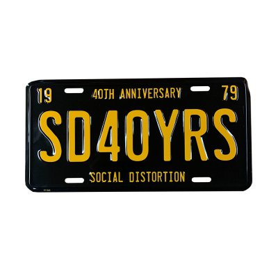 social-distortion - 40 Year License Plate