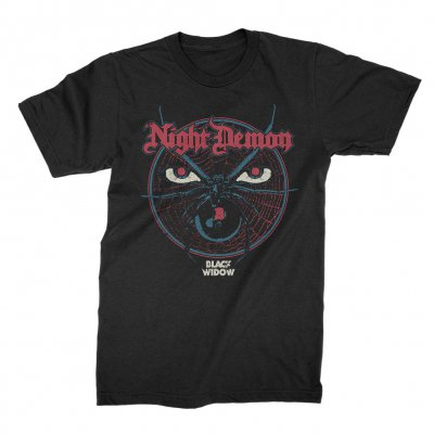 night-demon - Black Widow T-Shirt (Black)