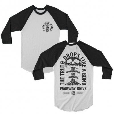 parkway-drive - Bombs Raglan (Black/White)