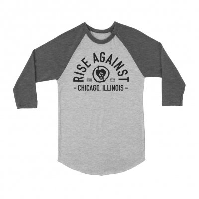 rise-against - Classic Arch Raglan (Grey)