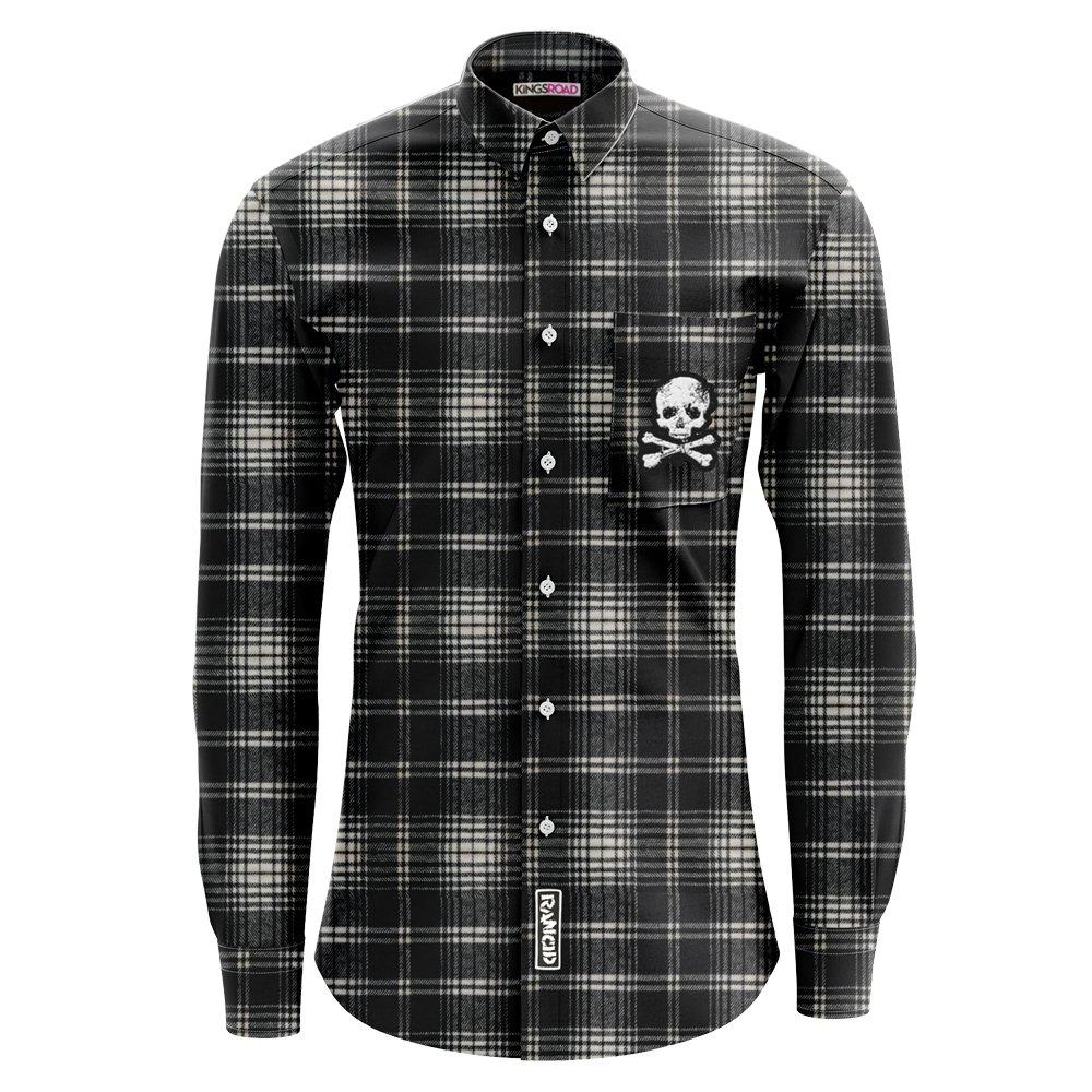 D-Skull Flannel (Black Ombre)