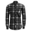 IMAGE | D-Skull Flannel (Black Ombre) - detail 1