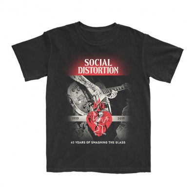 social-distortion - Smashing The Glass T-Shirt (Black)