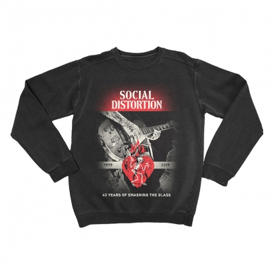 social-distortion - Smashing The Glass Crew Neck (Black)