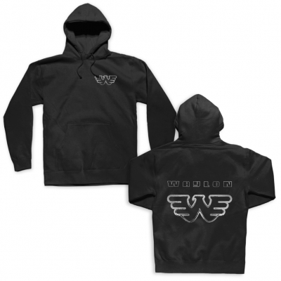 waylon-jennings - Silver Flying W Hoodie (Black)