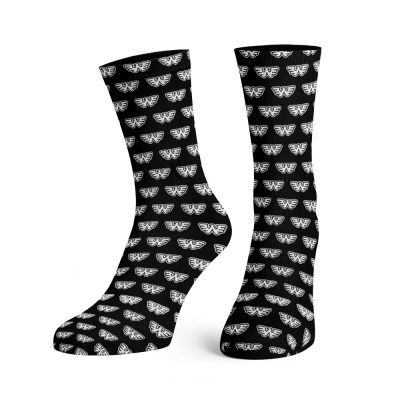 waylon-jennings - Flying W Dress Socks (Black)