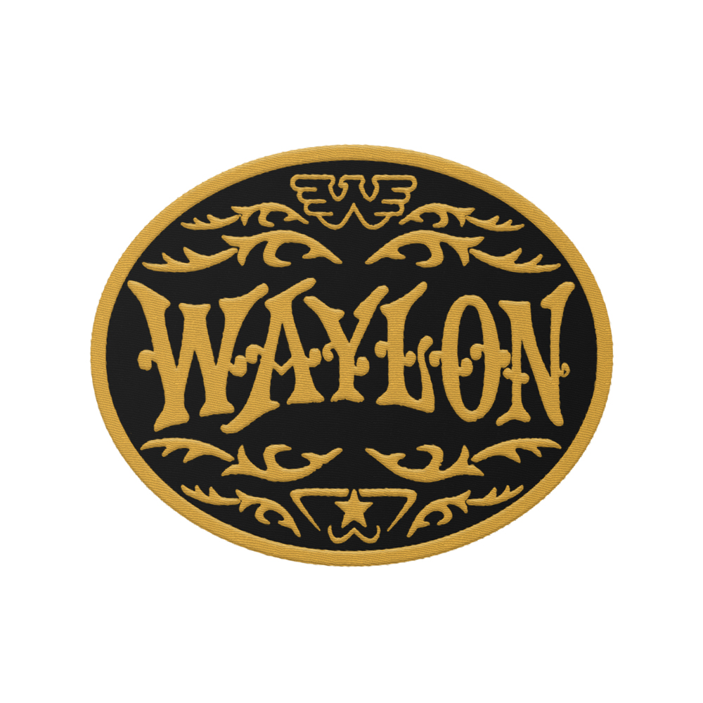 Buckle Logo Yellow Embroidered Patch (Yellow/Black