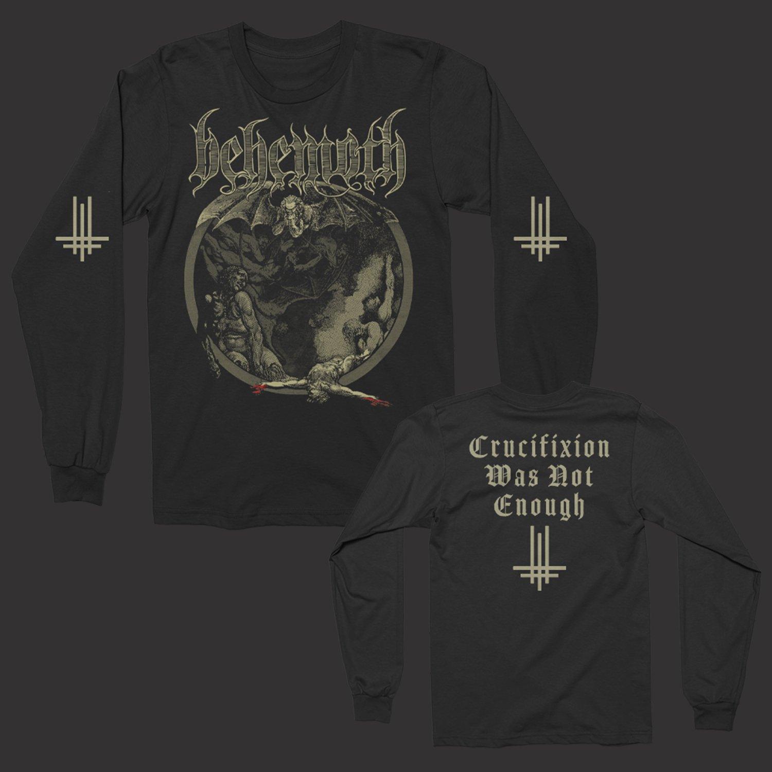IMAGE   Crucifixion Was Not Enough Long Sleeve (Black)