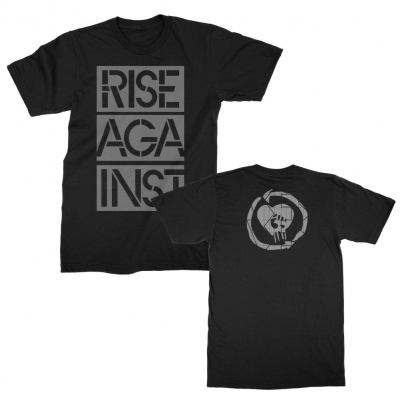 rise-against - Stacked Stencil Ghost Notes Tee (Black)