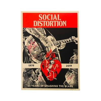 social-distortion - Social Distortion X Shepard Fairey Signed Print
