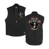 IMAGE | Skelly Work Vest (Black) - detail 1