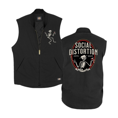 social-distortion - Skelly Work Vest (Black)