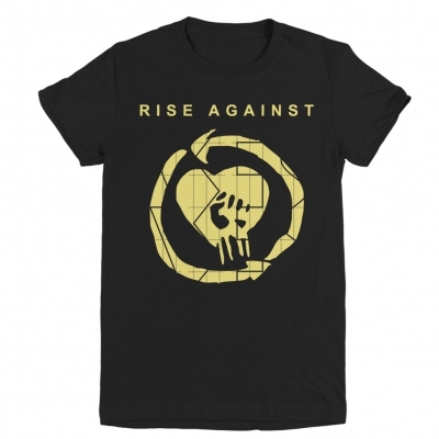 rise-against - TGNS HeartFist Women's Tee (Black)