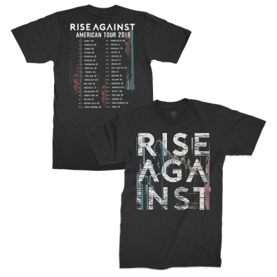 rise-against - Stacked Logo 2018 Tour Tee (Black)