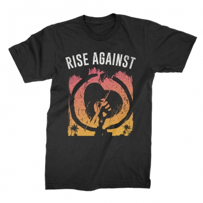 rise-against - Sunset HeartFist Tee (Black)
