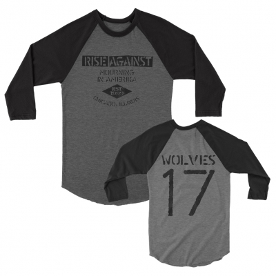 rise-against - Mourning In Amerika Raglan (Grey/Black)