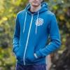 IMAGE   Applique Surviving Emblem Zip Up Hoodie (Blue) - detail 4