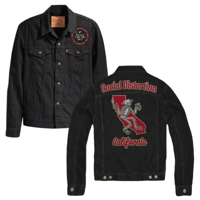 social-distortion - Felt Applique Patch Jacket (Black)