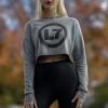 IMAGE | Drip Logo Women's Cropped Crewneck Sweatshirt (Hea - detail 2